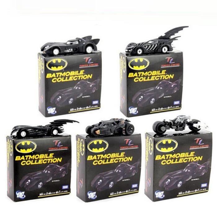 Batman Métal Batmobile Chariot de collection en alliage modèles de voitures Modèle Jouets 7cm / 2.8 -5 pcs / set Box-cadeaux