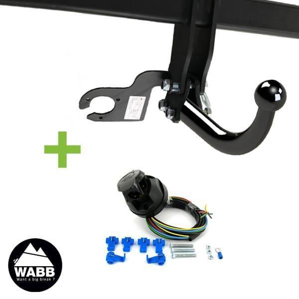 Attelage WABB démontable avec outils + faisceau standard 7 broches pour Volkswagen New Beetle Cabriolet 2 portes Pack attelage