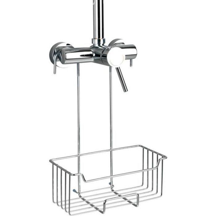 Etagère de douche Milo, Panier Douche à Suspendre, Inox