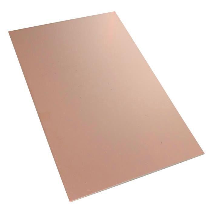 AERZETIX Plaque Planche Feuille en cuivre pour Circuit imprim/é 160//100//1.5mm 18/µm r/ésine epoxy Fibre de Verre C40590