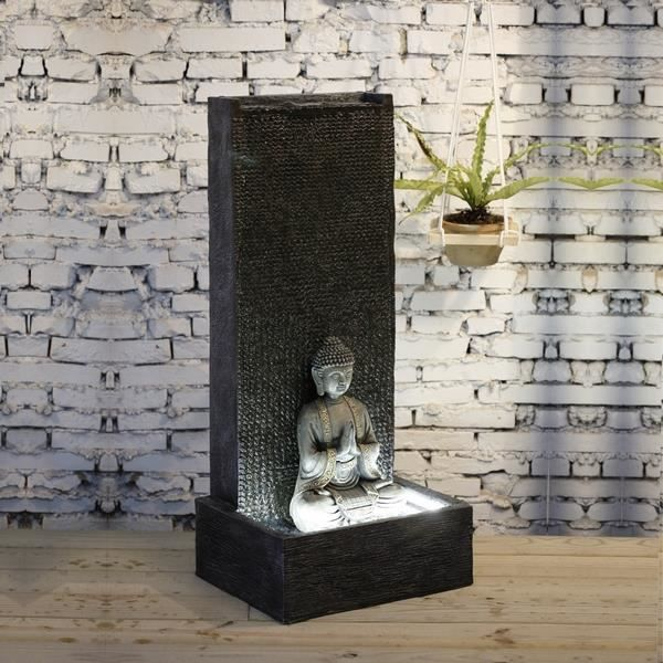grande fontaine mur du bouddha achat vente fontaine de. Black Bedroom Furniture Sets. Home Design Ideas