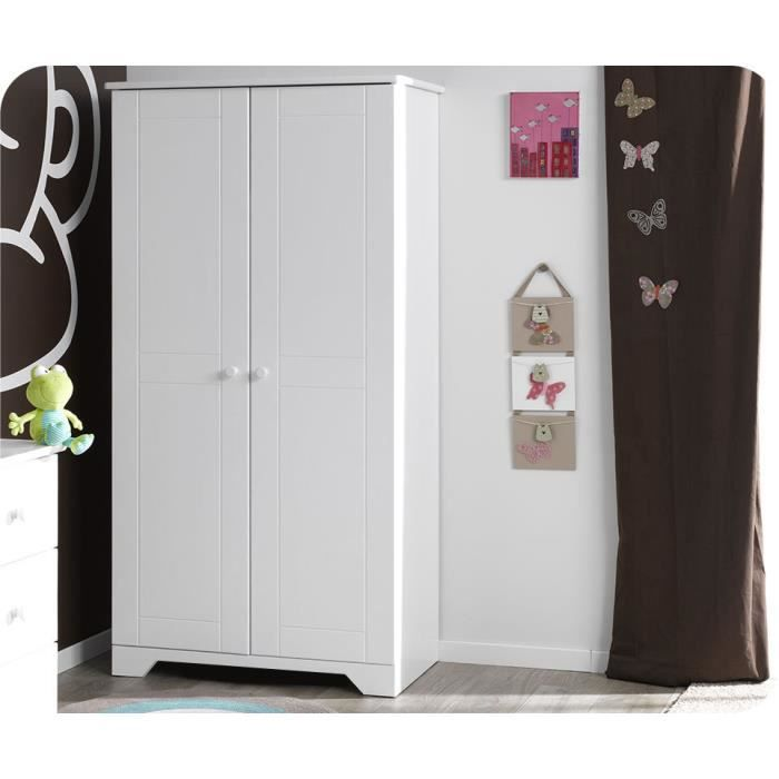 armoire enfant nature blanche achat vente armoire. Black Bedroom Furniture Sets. Home Design Ideas