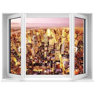 Sticker fen tre trompe l 39 oeil new york r f 658 dimensions for Stickers fenetre new york