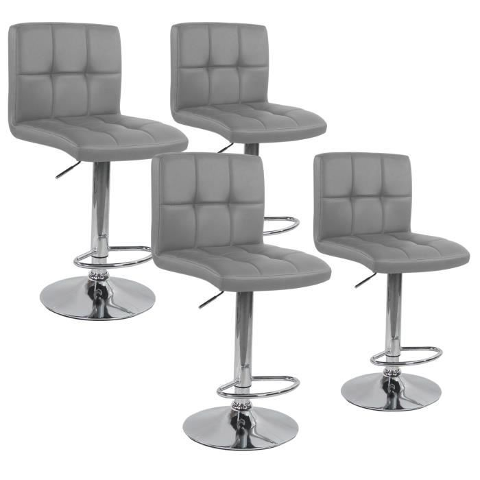 lot de 4 tabourets de bar elegant gris achat vente tabouret de bar gris cdiscount. Black Bedroom Furniture Sets. Home Design Ideas
