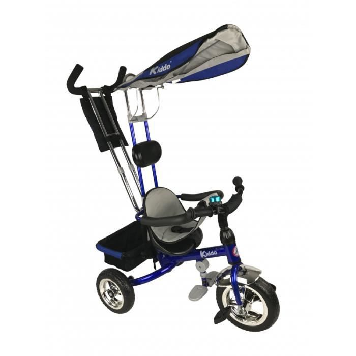 DRAISIENNE Kiddo Bleu Smart Nouveau Design 4-en-1 Tricycle En