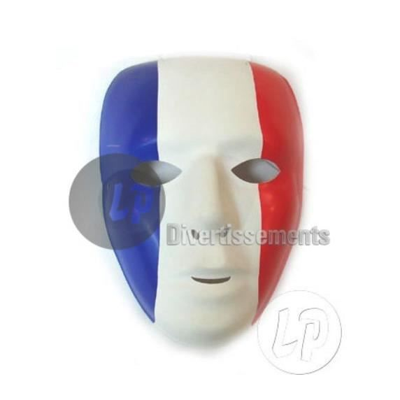 masque bleu blanc rouge achat vente masque decor visage cdiscount. Black Bedroom Furniture Sets. Home Design Ideas