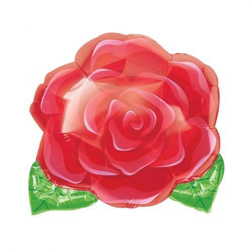 BALLON DÉCORATIF  Ballon Rose Rouge Non Gonflé