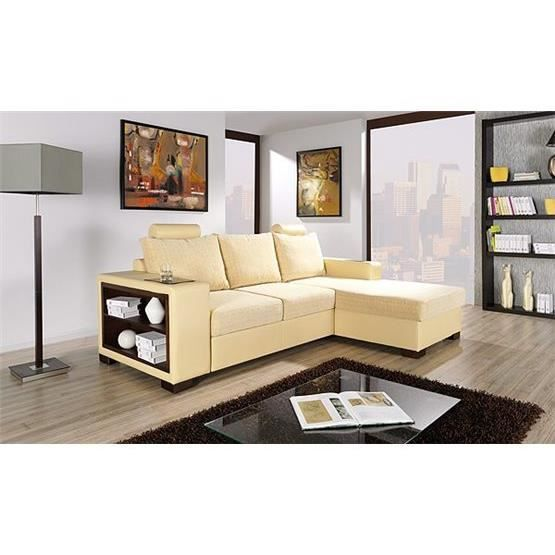 canap d 39 angle convertible rinaes jaune angle droit achat vente canap sofa divan. Black Bedroom Furniture Sets. Home Design Ideas