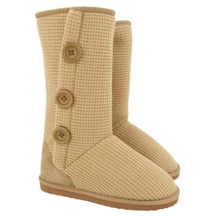 Paire de boots Camel fourrées femme Taille 38