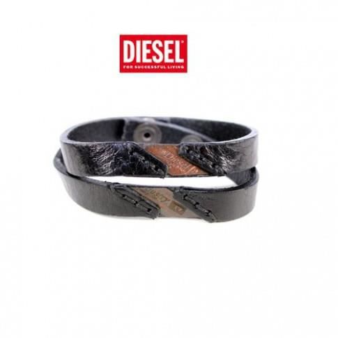 diesel bracelet ablacco cuir noir. Black Bedroom Furniture Sets. Home Design Ideas