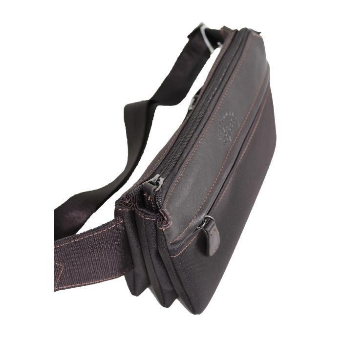 noir ou marron FRANCINEL sac banane en nylon garni cuir réf 653159