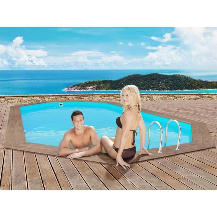 piscine hors sol en bois liner 70 100 achat vente pas cher. Black Bedroom Furniture Sets. Home Design Ideas