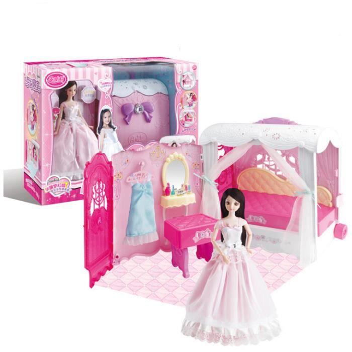 Barbie Poupée Barbie Princesse Fashionista Jouet Maison De Jeu Ensemble Fille Cadeau Noël