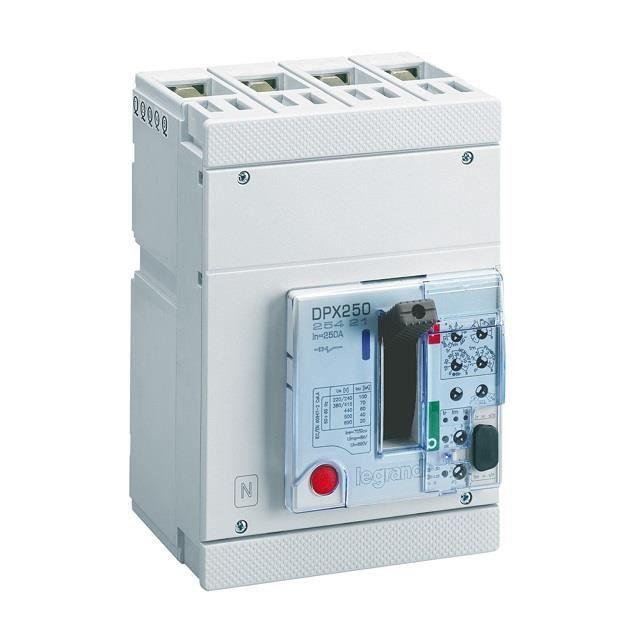 comment trouver Vente mieux Legrand 025421 - Disjoncteur puissance DPX-H 250 - électronique S1 - 70kA  100A 4P