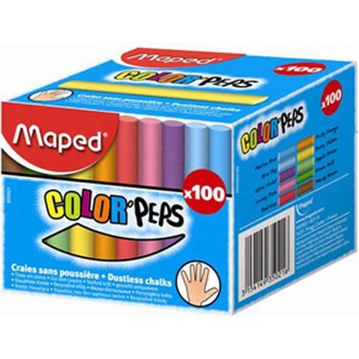 boite de 10 craies de couleurs pour tableaux noir fourniture de bureau