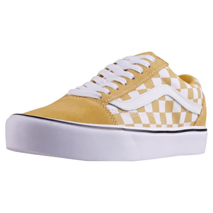 Vans Old Skool Lite Femmes Baskets Jaune Blanc - 8 UK Jaune ...