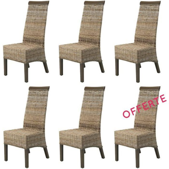 Lot 6 chaises berlin kubu achat vente chaise rotin for Chaises en rotin soldes