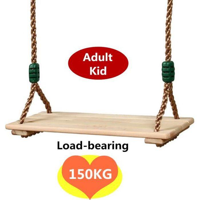 Balançoire Arbre en Bois pour Enfant et Adulte Chargé Maximum 150kg