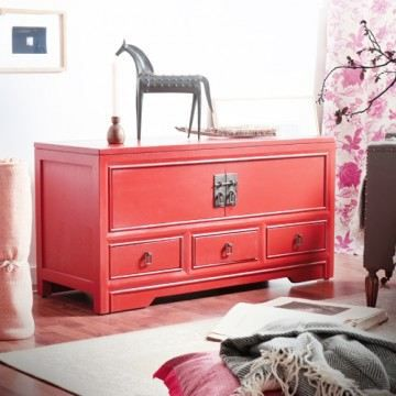 meuble tv en acajou 110 yoko achat vente meuble tv. Black Bedroom Furniture Sets. Home Design Ideas