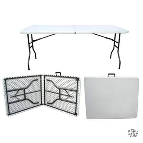 Table valise 8 personnes pliables achat vente table de for Table valise