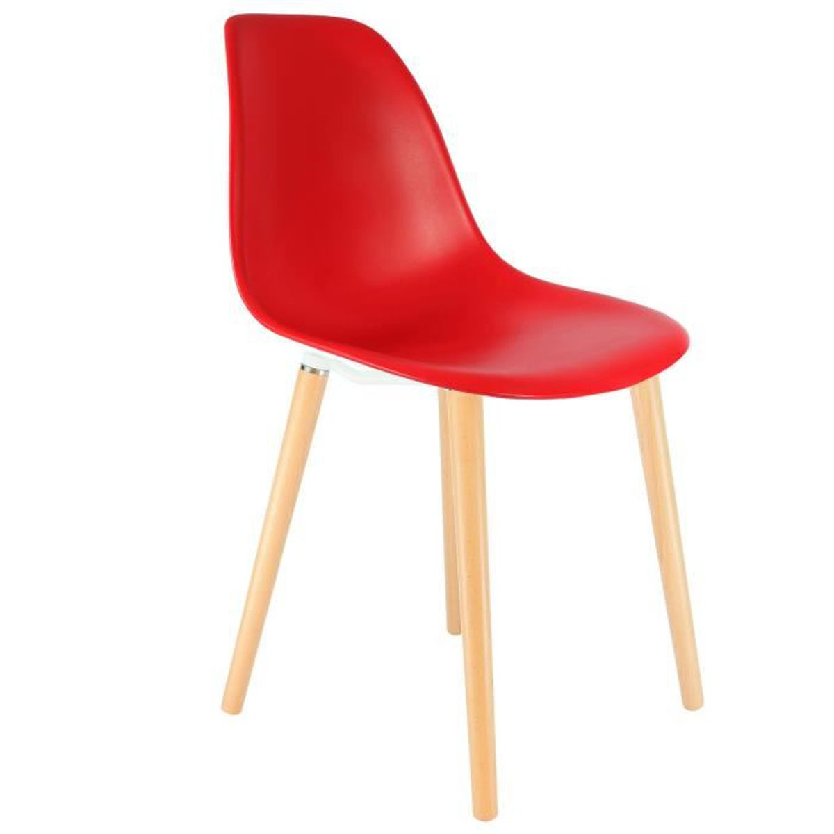 Chaise privee chaise stw rouge naturel achat vente chaise sold - Cdiscount vente privee ...