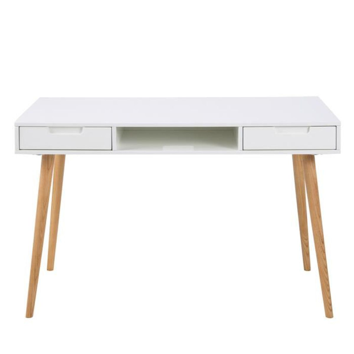 bureau elisabeth 120 cm 2 tiroirs blanc bois bois blanc achat vente bureau bureau elisabeth. Black Bedroom Furniture Sets. Home Design Ideas