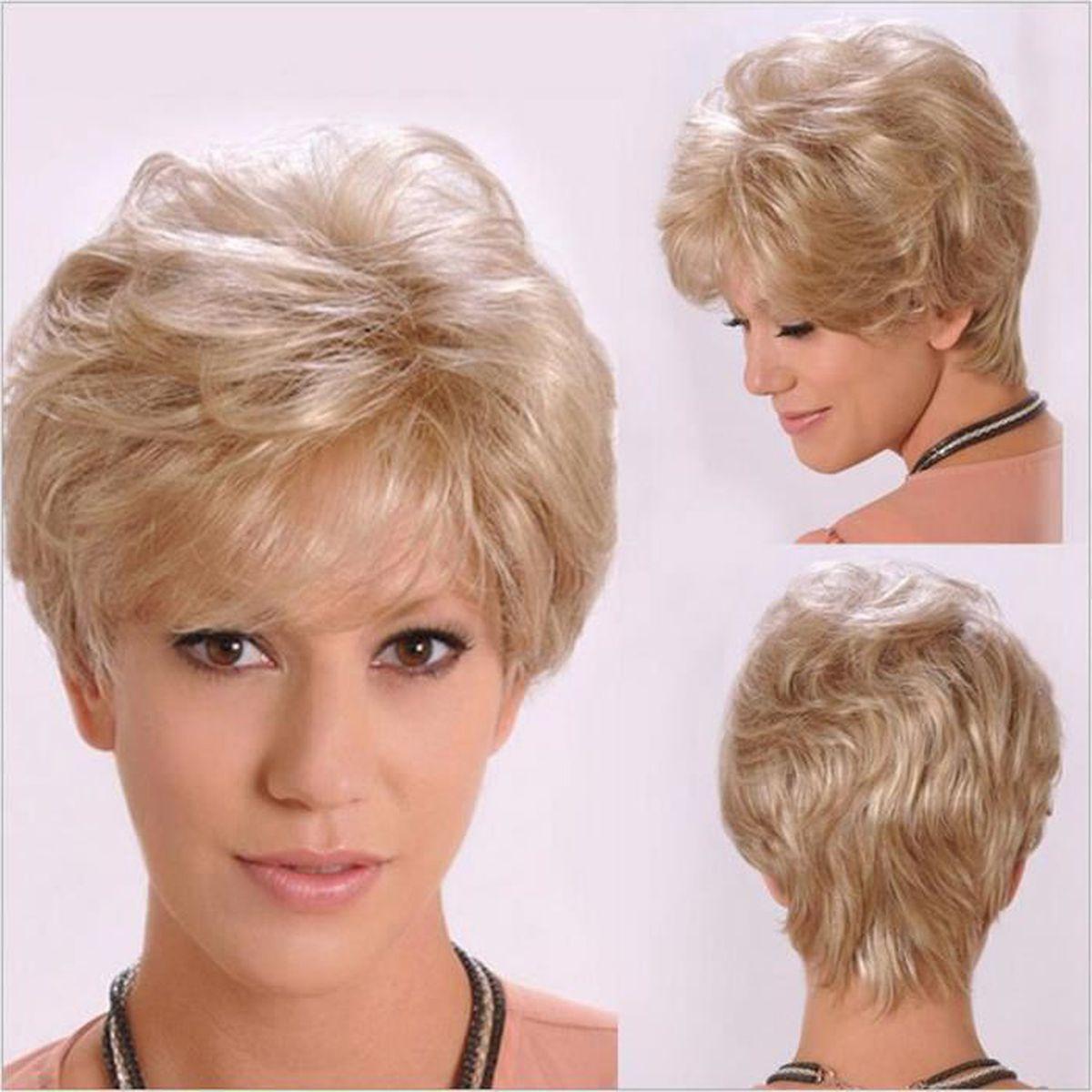 Mcsays Nouvelle Perruque Cheveux Court Frise Femme Europeen D Or Achat Vente Perruque Postiche Mcsays Perruque Court Femme Cdiscount