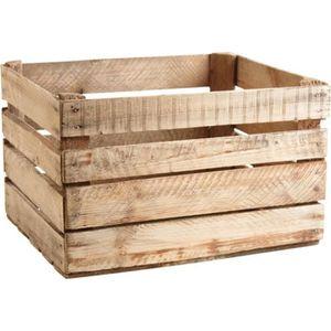 CAISSE ALIMENTAIRE Caisse en bois rustique