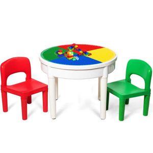 TABLE BÉBÉ Ensemble Table et 2 Chaises 3 en 1 Multi-Usage Act