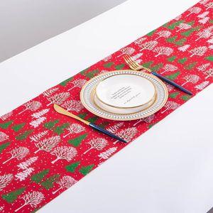 Noël Flocon de Neige Imprimé Rouge de Hesse 2 mètres