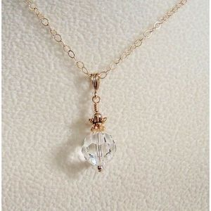 SAUTOIR ET COLLIER Craze Effacer Round Swarovski pendentif en cristal