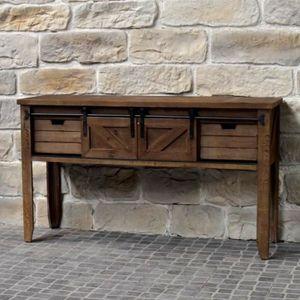 CONSOLE Meuble Console Table de Drapier Industriel Bois Fe