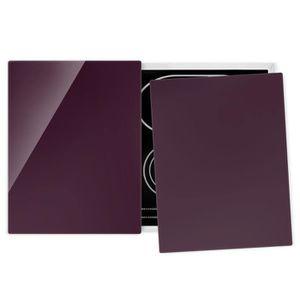 PLAQUE INDUCTION Couvre plaque de cuisson - Aubergine - 52x80cm, pr
