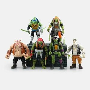 FIGURINE - PERSONNAGE Lot De 6 Figurines Teenage Mutant Ninja Turtles TM