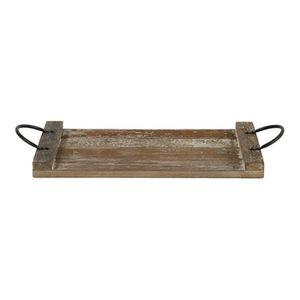 PLAT DE SERVICE Plateau deco en bois 40 x 24 cm