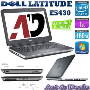 ORDINATEUR PORTABLE Dell Latitude E5430 Core i3  Ram 1Go 160Go