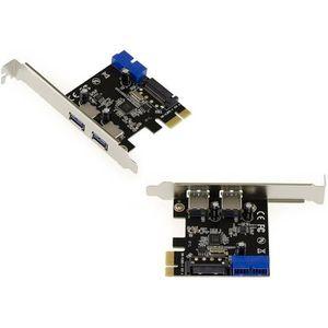 CARTE CONTROLEUR Carte Contrôleur USB 3.0 Sur Port PCIe - VIA VLI 8