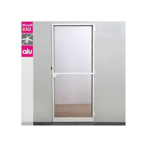 MOUSTIQUAIRE OUVERTURE Moustiquaire porte battante aluminium blanc - 100