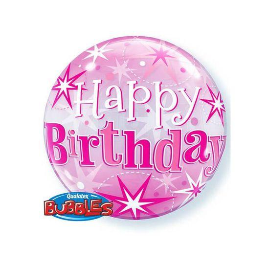 Joyeux Anniversaire De Pink Bubble Ballon D Helium Achat Vente Accessoire Deguisement Cdiscount