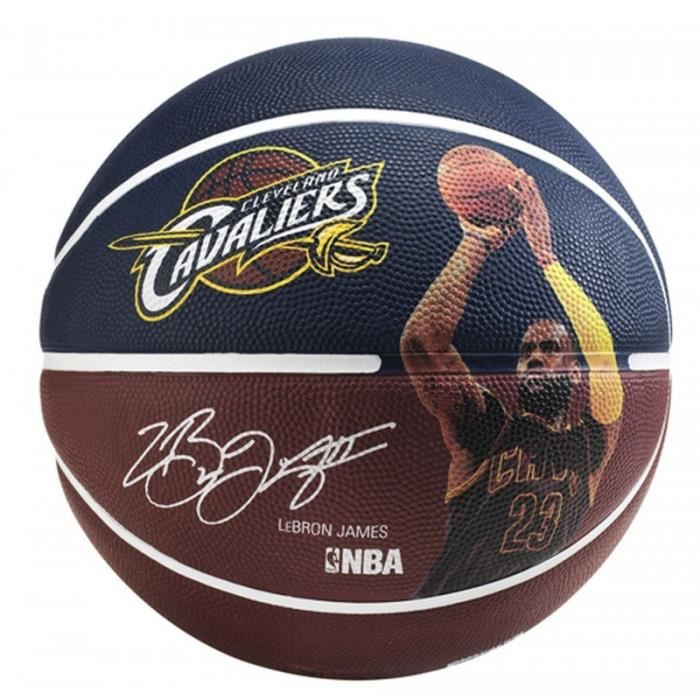 SPALDING Ballon de basket-ball NBA Player Lebron James - Bleu et rouge - Taille 7