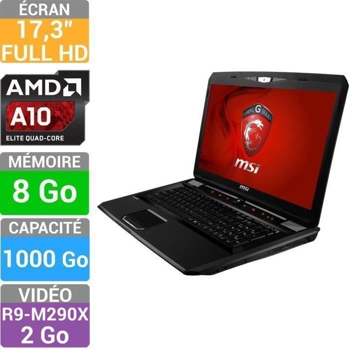 msi pc portable gamer gx70 3cc 217xfr destroyer achat vente ordinateur portable msi gx70 3cc. Black Bedroom Furniture Sets. Home Design Ideas
