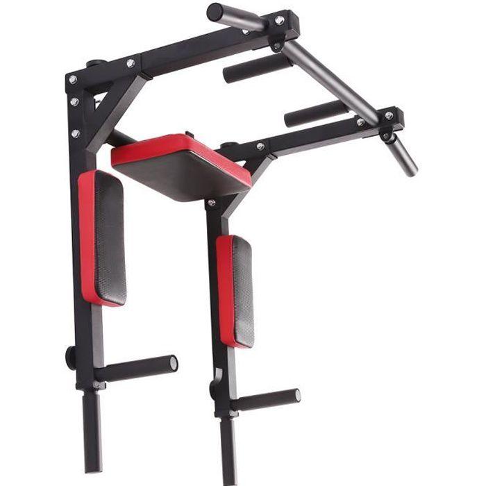 Fitness-Barre de Traction Murale-Chaise Romaine Murale - LARAS Barre de Traction démontableus