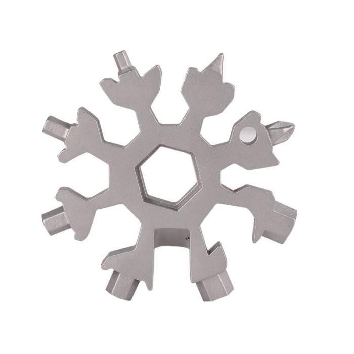 Tournevis pratique et Compact 18 en 1 | Outils manuels multifonctionnels flocons de neige, combinaison de cart - Type: S -HS292A
