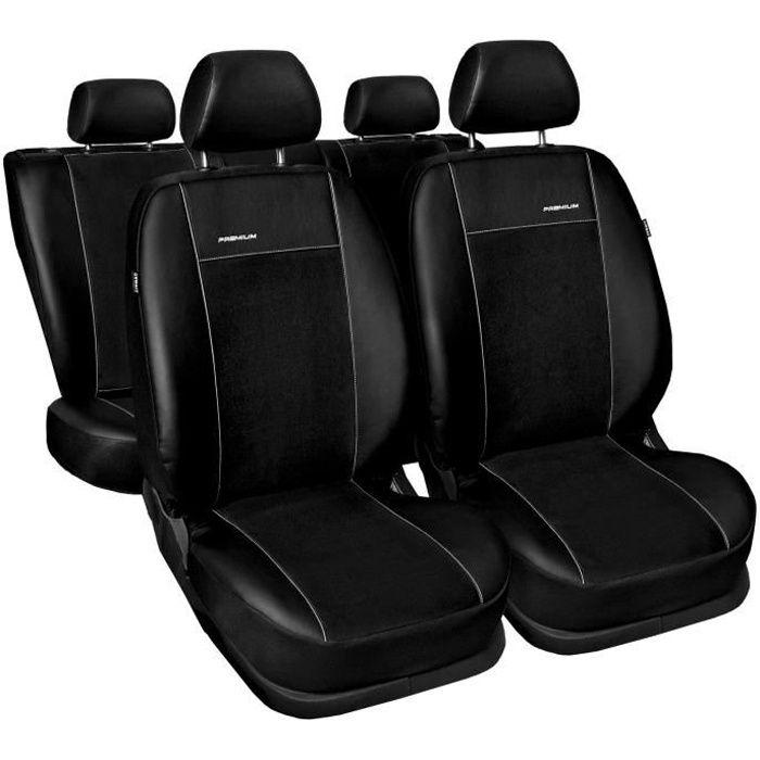 Housse De Siège Voiture Auto pour Renault Laguna II III Premium Noir éco-cuir set complet