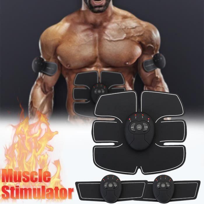 3Pcs Stimulation Abdominale Musculation Electro Stimulateur Ceinture Muscle Fitness Abdo