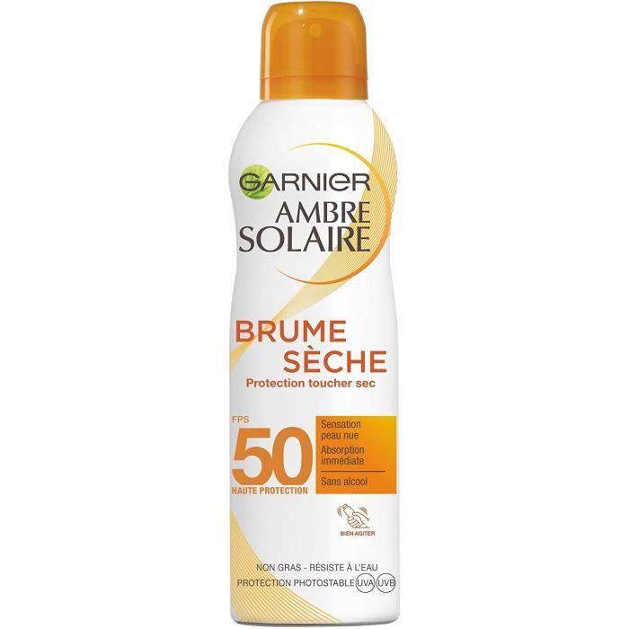 Garnier Ambre Solaire - Brume Sèche Protection Toucher Sec - FPS 50 - 200 mL
