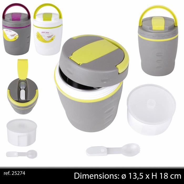 BOITE ISOTHERME PIC NIC CONSERVATION REPAS GLACIERE THERMOS GOBELET CAMPING COUVERT