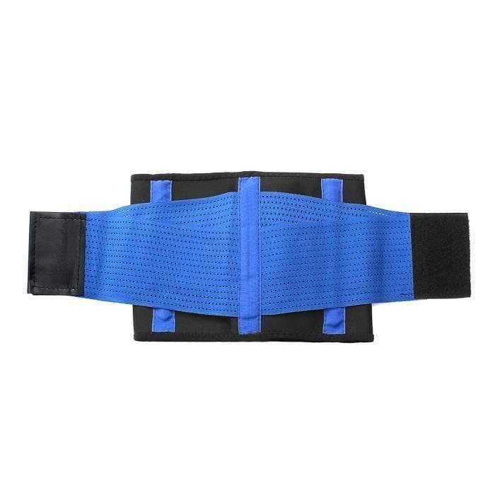 Bleu Ceinture Elastique Soutien Sport Fitness Ventre Façonnage Corps Caoutchouc L L19311