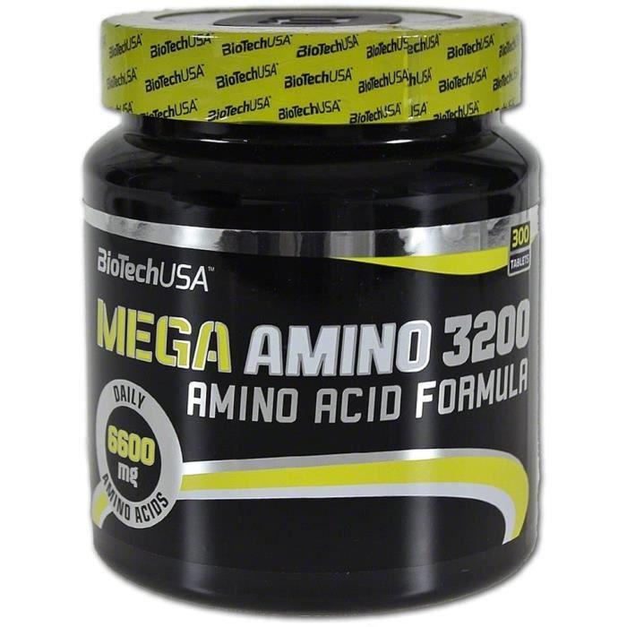 Multi-vitamines et minéraux Biotech USA 12014020000 Méga Amino 3200 Acide Aminé 508414