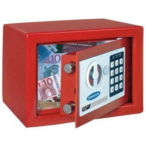Dagobert Petit Coffre-fort électronique Rouge pour maison ou bureau